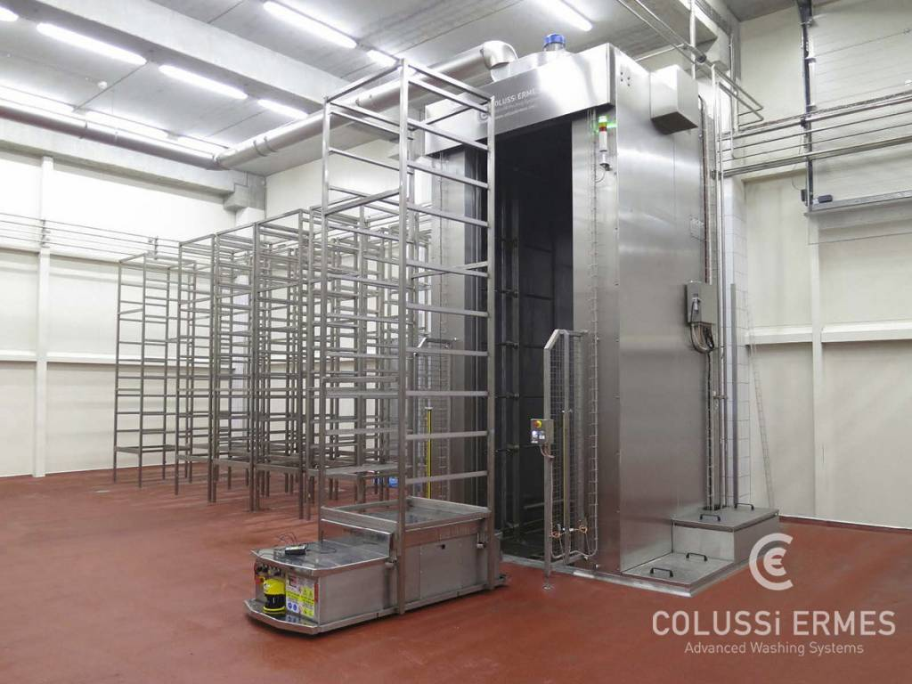 Lavadora y sopladora de embutidos Colussi Ermes