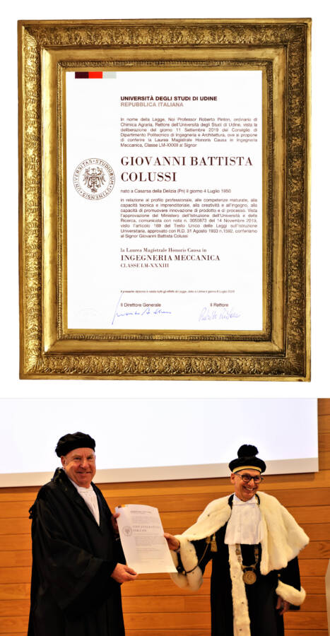Giovanni Battista Colussi Ingeniero Mecánico Honoris Causa