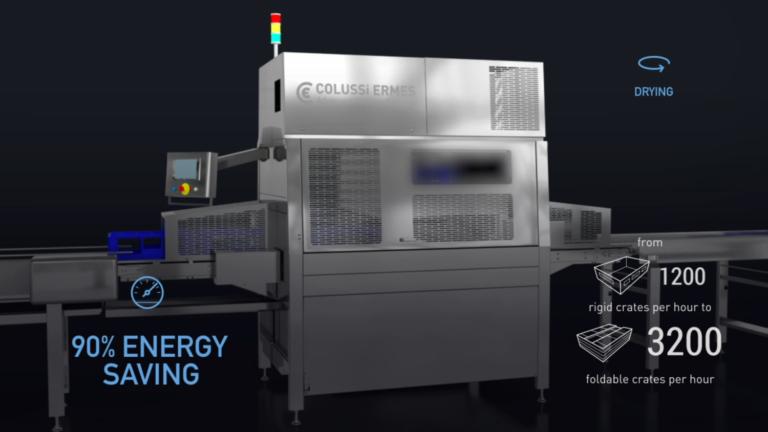 Le asciuga cassette a centrifuga Colussi Ermes garantiscono velocità e perfetta asciugatura fino a 4200 casse/ora